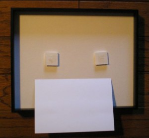 Archival Floating Picture Frame with mounting tabs