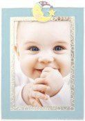 Blue Goodnight Moon Baby Picture Frame