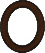 Cora Vintage Walnut Oval Picture Frame