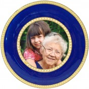 Montmartre Blue Round Picture Frame