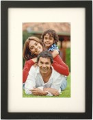 Simple Wood Black Matted Picture Frame