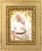 Antique Silver and Gold Ornate Picture Frame