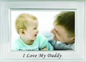 Brushed Silver I Love My Daddy Picture Frame