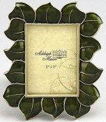Olive Hibiscus Flower Picture Frame