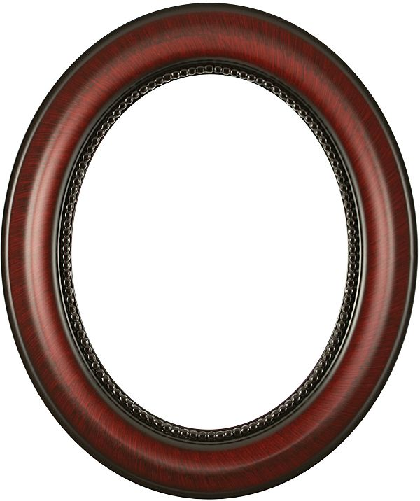 laurel vintage cherry oval picture frame