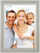 Slate Grey Enamel Silver Plate Picture Frame