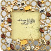 Beaded Circles Square Jeweled Picture Frame