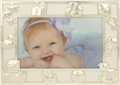 Playful Silver Baby Picture Frame