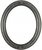 Chloe Black Silver Oval Picture Frame