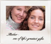 Brushed Silver Mother Picture Frame with Inscription