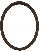 Nora Ornate Vintage Walnut Oval Picture Frame