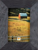 Slate Blue Wood Veneer Frame