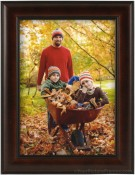 Dark Walnut Dome Wood Picture Frame