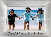 Brushed Silver Grandchildren Picture Frame