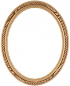 Lucille Gold Oval Picture Frame