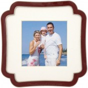 Octagon Square Red Picture Frame