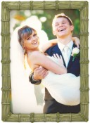 Bamboo Jeweled Green Picture Frame