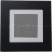 metro black square picture frame with archival mat