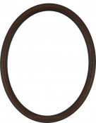 Laini Vintage Walnut Oval Picture Frame with Gold Lip