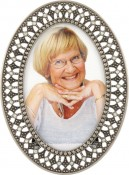 Filigree Metal Oval Picture Frame