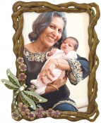 Jeweled Dragonfly Picture Frame