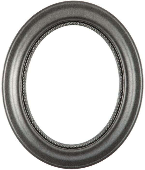 Laurel Black Silver Oval Picture Frame