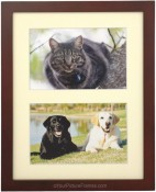 Dark Walnut Matted Double Picture Frame