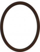 Lyla Walnut Oval Picture Frame