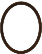 Lyla Rosewood Oval Picture Frame