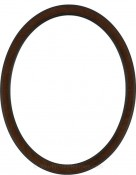 Lyla Vintage Walnut Oval Picture Frame