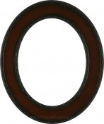 Cora Rosewood Oval Picture Frame