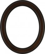 Marna Walnut Oval Picture Frame