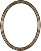 Sadie Champagne Silver Oval Picture Frame