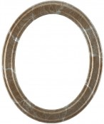 Marna Champagne Silver Oval Picture Frame