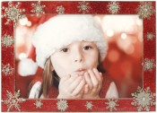 Red Holiday Snow Picture Frame
