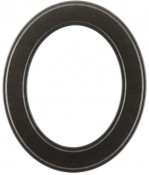 Bianca Black Silver Oval Picture Frame
