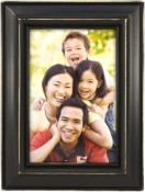 Weathered Antique Black Picture Frame
