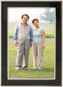 Black Enamel Silver Plated Picture Frame