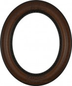 Ava Vintage Walnut Oval Picture Frame