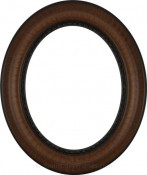 Sara Vintage Walnut Oval Picture Frame