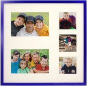 Galactic Blue Collage Picture Frame