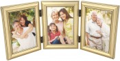 Burnished Silver Leaf Triple Picture Frame