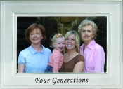 Brushed Silver Four Generations Picture Frame