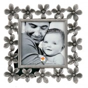 Jeweled Plumeria Flower Frame