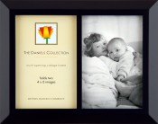Classic Black Wood Double Picture Frame