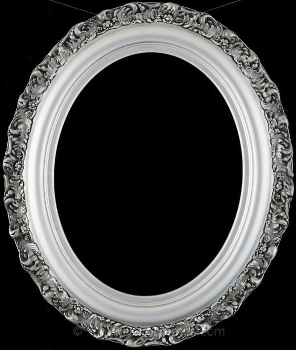 Mia Silver Spray Oval Picture Frame