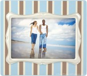 Blue Pinstripe Decorative Picture Frame