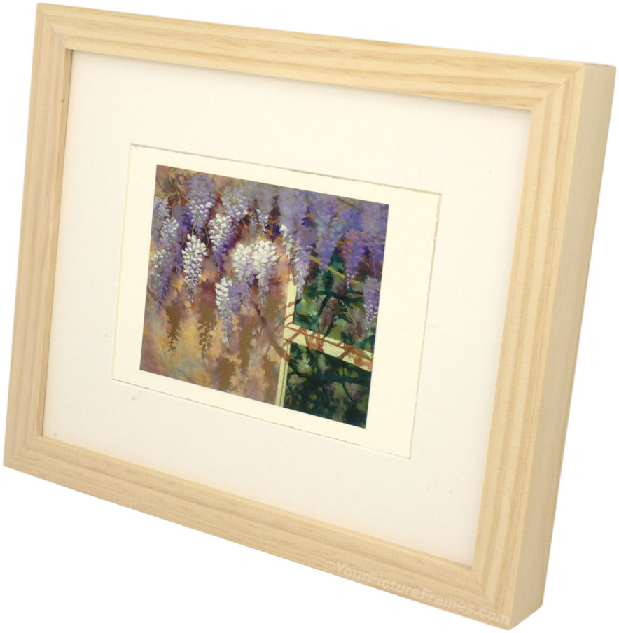 Unstained Natural Wood Picture Frame
