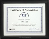 Beveled Wood Black Diploma Frame