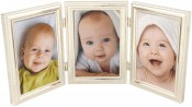 Silver Bead Triple Picture Frame